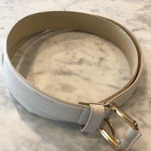 Zara white belt with gold hardware